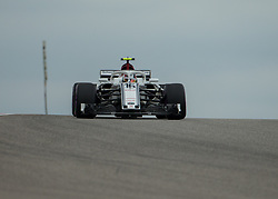 October 20, 2018 - Austin, USA - Alfa Romeo Sauber driver Charles Leclerc (16) of Monaco  comes around Turn 10 during qualifying at the Formula 1 U.S. Grand Prix at the Circuit of the Americas in Austin, Texas on Saturday, Oct. 20, 2018. (Credit Image: © Scott Coleman/ZUMA Wire)