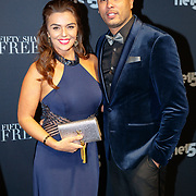 NLD/Amsterdam/20180206 - Fifty Shades Freed premiere, Laura Ponticorvo en partner Ryan Rijger