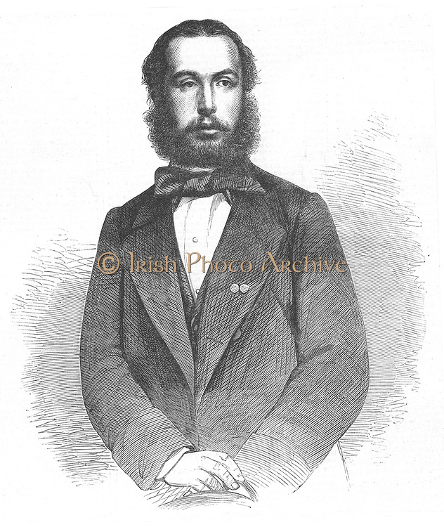 Maximilian (1832-1867) emperor of Mexico from 1864, shot 9 June 1867. Wood engraving 1864.