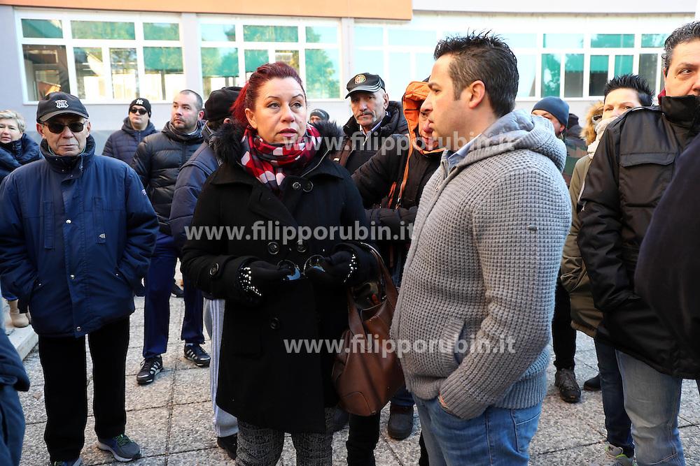 DAVIDE MICHETTI<br /> PROTESTA CONSULTA OSPEDALE SAN CAMILLO CONTRO ARRIVO PROFUGHI