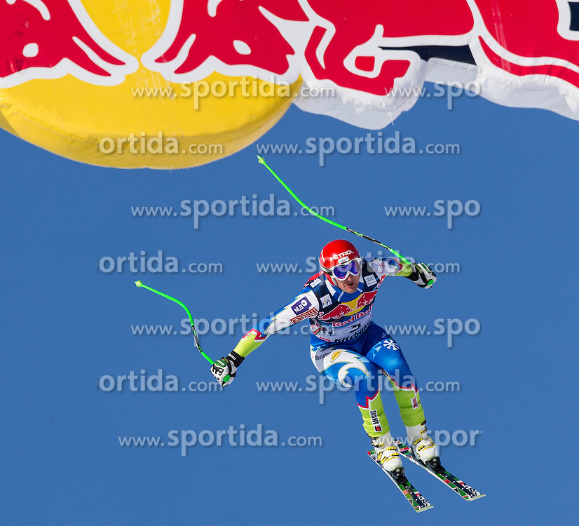 24.01.2013, Streif, Kitzbuehel, AUT, FIS Weltcup Ski Alpin, Abfahrt, Herren, 3. Training, im Bild Andrej Sporn (SLO) // Andrej Sporn of Slovenia in action during 3th practice of mens Downhill of the FIS Ski Alpine World Cup at the Streif course, Kitzbuehel, Austria on 2013/01/24. EXPA Pictures © 2013, PhotoCredit: EXPA/ Johann Groder