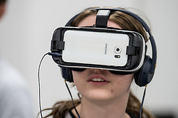 Wearing a virtual reality headset UK