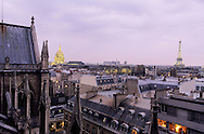 France. Paris. elevated view.The Invalides. view from Sainte Clotilde church