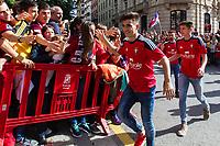 Osasuna's player Aitor Bunuel during the celebration for promotion to La Liga BBVA on the streets of Pamplona . 19,06,2016. (ALTERPHOTOS/Rodrigo Jimenez)