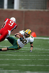 25 October 2008: Tom Nelson puts a stop on Jerimiah Wurzbacher after Wurzbacher intercepts a pass intended for Nelson in a game which the North Dakota Bison defeated the Illinois State Redbirds at Hancock Stadium on campus of Illinois State University in Normal Illinois