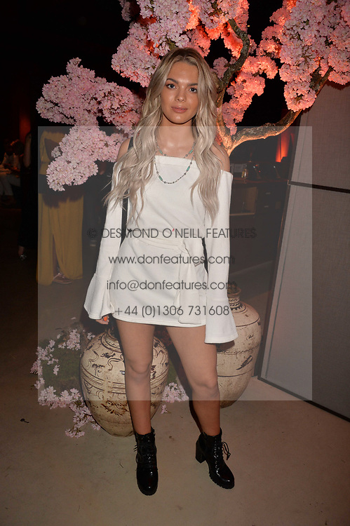 Louisa Johnson at the Warner Music Group and British GQ Summer Party in partnership with Quintessentially held at Nobu Shoreditch, Willow StreetLondon England. 5 July 2017.<br /> Photo by Dominic O'Neill/SilverHub 0203 174 1069 sales@silverhubmedia.com