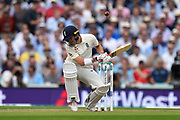 Rory Burns of England is tested by another short ball during the 5th International Test Match 2019 match between England and Australia at the Oval, London, United Kingdom on 12 September 2019.