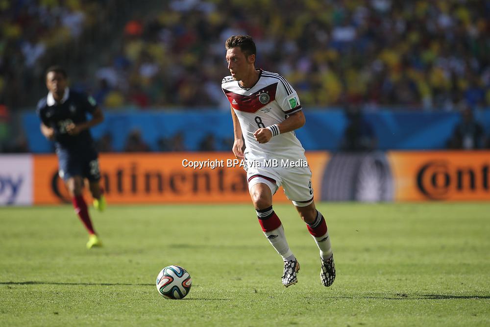 Mesut Oezil Ozil. France v Germany, quarter-final. FIFA World Cup Brazil 2014. 4 July 2014