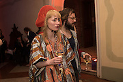 KRIS LEMSALU; JAN MOLOMANSKI, Sarah Lucas- Scream Daddio party hosted by Sadie Coles HQ and Gladstone Gallery at Palazzo Zeno. Venice. 6 May 2015.