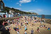 The Harbour beach, Folkestone, Kent.