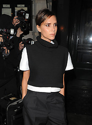 Victoria Beckham attends a private dinner hosted by British Vogue celebrating London Fashion Week SS14 at Balthazar in London, UK. 15/09/2013<br />