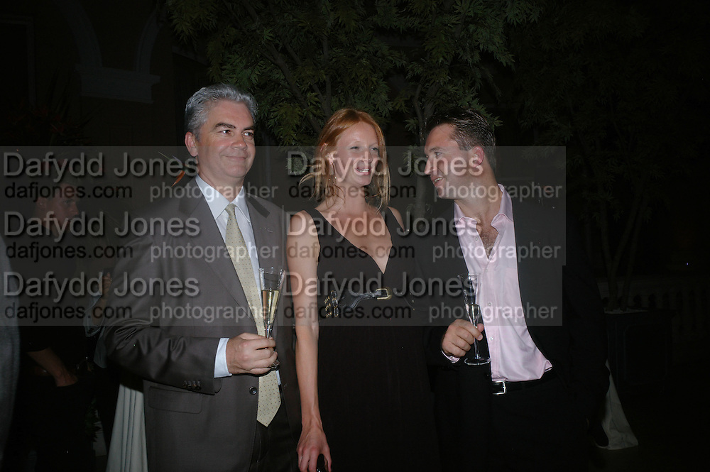 Anahita Resort launch party. Wallace Collection. London. 12 September 2007. ( Photo by Dafydd Jones)   Pascal Prigent;Olivia Inge;Nicolas Vaudin  -DO NOT ARCHIVE-© Copyright Photograph by Dafydd Jones. 248 Clapham Rd. London SW9 0PZ. Tel 0207 820 0771. www.dafjones.com.