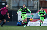 Forest Green Rovers Charlie Cooper(15) during the EFL Sky Bet League 2 match between Grimsby Town FC and Forest Green Rovers at Blundell Park, Grimsby, United Kingdom on 9 December 2017. Photo by Paul Thompson.