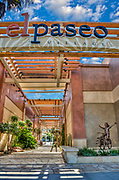 Palm Desert CA, El Paseo Drive, Shopping, shops, clothing, boutiques, art galleries, jewelers, restaurants, picture-postcard floral, Interior