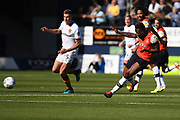 Luton Town midfielder Kazenga LuaLua (25) looks to release the ball  during the EFL Sky Bet Championship match between Luton Town and Hull City at Kenilworth Road, Luton, England on 21 September 2019.
