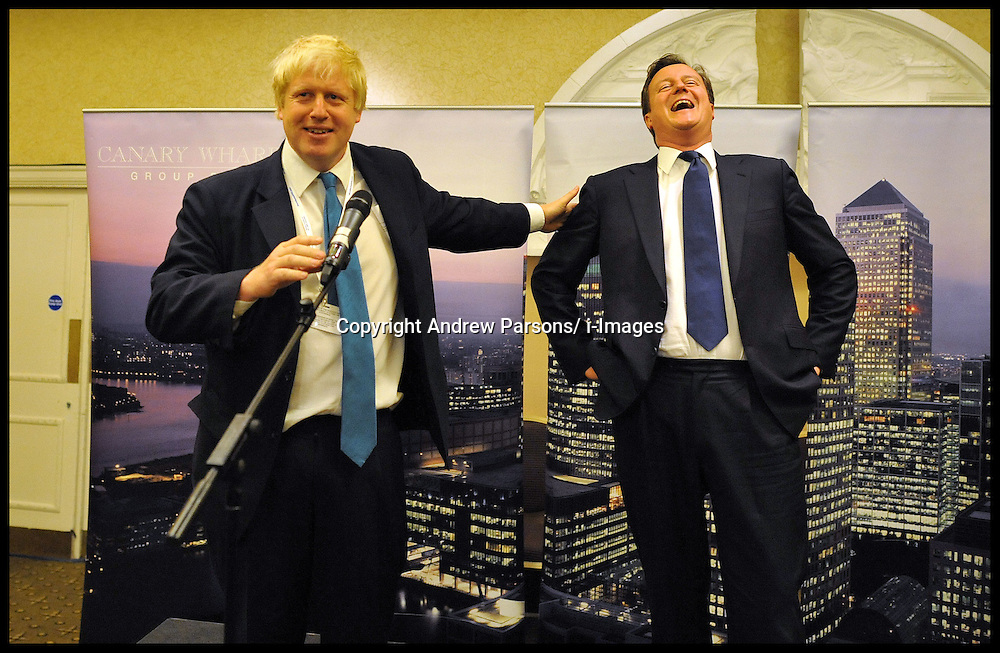 London Mayor Boris Johnson and The Prime Minister David Cameron share a joke at an event at the Conservative Party Conference in Manchester, Monday October 3,  2011 Photo By Andrew Parsons/ i-ImagesLondon Mayor Boris Johnson and The Prime Minister David Cameron share a joke at an event at the Conservative Party Conference in Manchester, Monday October 3,  2011 Photo By Andrew Parsons/ i-Images
