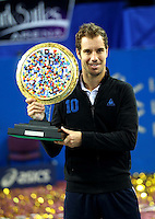 Victoire RICHARD GASQUET - 08.02.2015 - Tennis - Finale Open Sud de France- Montpellier<br /> Photo : Andre Delon / Icon Sport