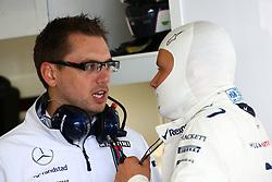 (L to R): Jonathan Eddolls (GBR) Williams Race Engineer with Valtteri Bottas (FIN) Williams.<br /> 08.10.2016. Formula 1 World Championship, Rd 17, Japanese Grand Prix, Suzuka, Japan, Qualifying Day.<br />  Copyright: Bearne / XPB Images / action press