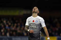 Marcus Maddison of Peterborough United cuts a frustrated figure - Mandatory by-line: Joe Dent/JMP - 12/11/2017 - FOOTBALL - Cherry Red Records Stadium - Kingston upon Thames, England - AFC Wimbledon v Peterborough United - Sky Bet League One