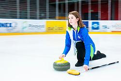 Maja Kucina during Curling Training session U15 on November 24, 2019 in Arena Podmezakla Hall, Ljubljana, Slovenia. Photo by Peter Podobnik / Sportida
