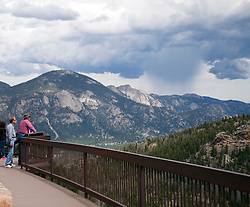 One of many views from Colorado's Trail Ridge Road Scenic Byway as it crosses both the Continental Divide and the width of Rocky Mountain National Park.