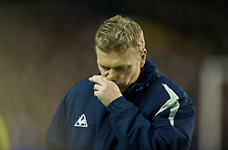 LIVERPOOL, ENGLAND - Wednesday, January 27, 2010: Everton's manager David Moyes before the match against Sunderland during the Premiership match at Goodison Park. (Photo by: David Rawcliffe/Propaganda)