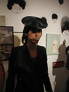 Hen Yanni. Barry McGee private view. Modern Art. Redchurch St. 7 September 2002. © Copyright Photograph by Dafydd Jones 66 Stockwell Park Rd. London SW9 0DA Tel 020 7733 0108 www.dafjones.com