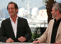 Actor Vincent Lindon and Director Stéphane Brizé at La Loi Du Marché – The Measure Of A Man film photo call at the 68th Cannes Film Festival Monday May 18th 2015, Cannes, France.