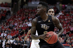 20 March 2017:  Tank Efianayi during a College NIT (National Invitational Tournament) 2nd round mens basketball game between the UCF (University of Central Florida) Knights and Illinois State Redbirds in  Redbird Arena, Normal IL