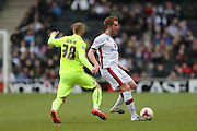 Milton Keynes Dons defender Dean Lewington (3) and Brighton striker Jiri Skalak (38) during the Sky Bet Championship match between Milton Keynes Dons and Brighton and Hove Albion at stadium:mk, Milton Keynes, England on 19 March 2016.