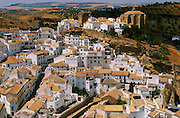 SPAIN, ANDALUSIA SETENIL; a beautiful 'pueblo blanco' or 'white village' built into a river gorge in the province of Cadiz, north of Ronda