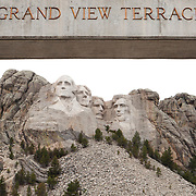 Mount Rushmore National Memorial, is a mountain sculpture of Presidents George Washington, Thomas Jefferson, Theodore Roosevelt and Abraham Lincoln carved into the granite face of Mount Rushmore, Lakota Sioux name: Six Grandfathers, near Keystone, South Dakota. Sculpted by Danish American artist Gutzon Borglum and his son, Lincoln Borglum.    Photography by Jose More