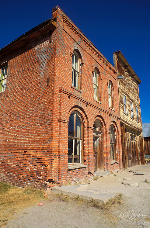 The Dechambeau Hotel and Odd Fellows Lodge on Main Street, Bodie ghost town, Bodie State Historic Park (National Historic Landmark), California