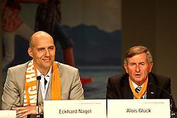 12.05.2010, Messe, Muenchen, GER, Oekt , Eroeffnungs Pressekonferenz, im Bild Eckhard Nagel (ev. Präsident 2. Oekt) und Alois Glück (kath.Praesident 2. OeKT)  , EXPA Pictures © 2010, PhotoCredit: EXPA/ nph/  Straubmeier / SPORTIDA PHOTO AGENCY