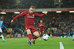 LIVERPOOL, ENGLAND - Friday, April 26, 2019: Liverpool's Xherdan Shaqiri during the FA Premier League match between Liverpool FC and Huddersfield Town AFC at Anfield. (Pic by David Rawcliffe/Propaganda)
