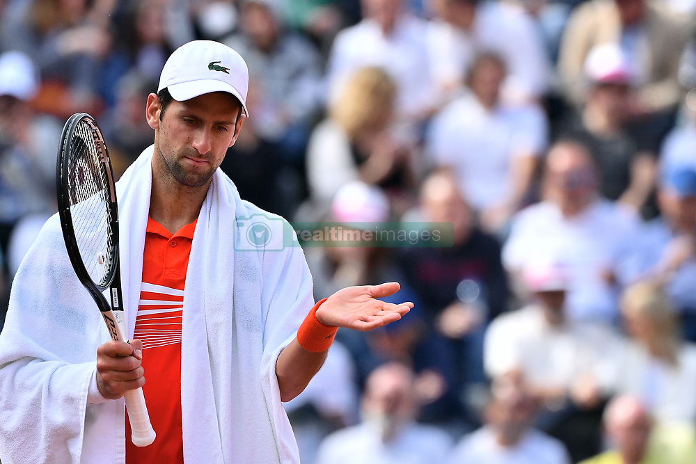May 19, 2019 - Roma, Italia - Foto Alfredo Falcone - LaPresse.19/05/2019 Roma ( Italia).Sport Tennis.Internazionali BNL d'Italia 2019.Novak Djokovic (srb) vs Rafael Nadal (esp).Nella foto: Novak Djokovic ..Photo Alfredo Falcone - LaPresse.May 19th, 2019 Roma (Italy).Sport Tennis.Internazionali BNL d'Italia 2019.Novak Djokovic (srb) vs Rafael Nadal (esp).In the pic: Novak Djokovic (Credit Image: © Alfredo Falcone/Lapresse via ZUMA Press)