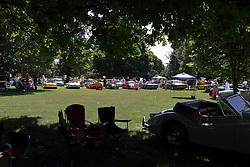 2018 Champagne British Car Festival held on Clover Lawn at David Davis Mansion in Bloomington IL
