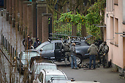 Nov. 16, 2015 - Brussels, BELGIUM - <br /> BRUSSELS, BELGIUM:<br /> <br /> Search for Paris Terror Suspect in Brussels<br /> <br /> Special forces pictured leaving the scene of searchings at a house in the Delaunoystraat - Rue Delaunoy in Sint-Jans-Molenbeek / Molenbeek-Saint-Jean, Brussels on Monday 16 November 2015. During the weekend searches were carried out and multiple people were arrested in relation to Friday's terrorist attacks in Paris. Several terrorist attacks in Paris, France, have left at least 129 dead and 350 injured. Most people were killed during a concert in venue Bataclan, the other targets were a restaurant and a soccer game. The attacks have been claimed by Islamic State<br /> ©Exclusivepix Media