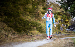 19.12.2014, Nordische Arena, Ramsau, AUT, FIS Nordische Kombination Weltcup, Skisprung, Training, im Bild Tomaz Druml (AUT) // during Ski Jumping of FIS Nordic Combined World Cup, at the Nordic Arena in Ramsau, Austria on 2014/12/19. EXPA Pictures © 2014, EXPA/ JFK