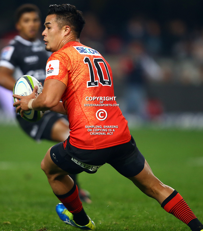 DURBAN, SOUTH AFRICA - JULY 15:Yu Tamura (captain) of the Sunwolves during the Super Rugby match between the Cell C Sharks and Sunwolves at Growthpoint Kings Park on July 15, 2016 in Durban, South Africa. (Photo by Steve Haag/Gallo Images)