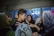5/1/2016-- Iraq,Kirkuk-- The joy of having the kidnapped boy ( Hussain Shahab) back again with his family.