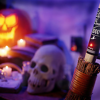 A witch's broom needs to be fully charged before taking off for flying on Halloween night!