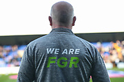 We Are FGR during the EFL Sky Bet League 2 play off first leg match between Tranmere Rovers and Forest Green Rovers at Prenton Park, Birkenhead, England on 10 May 2019.