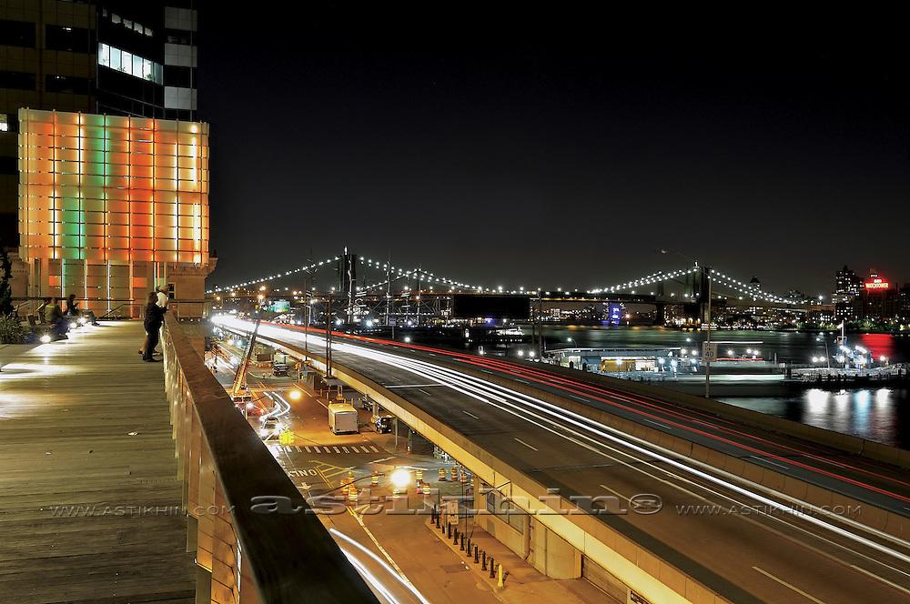NEW YORK CITY WITH BROOKLYN BRIDGE.
