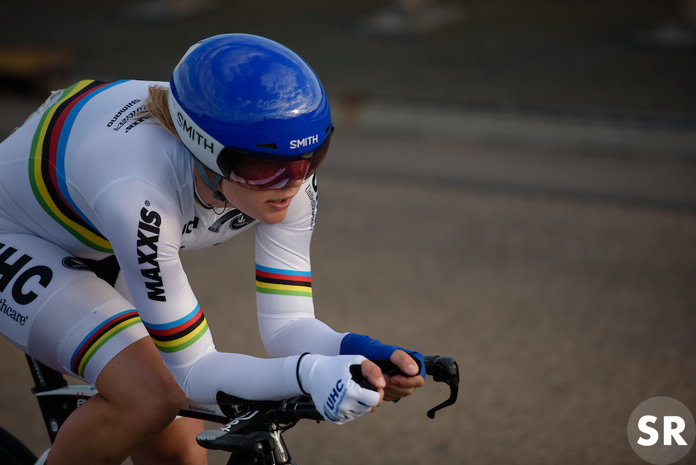World Champion, Linda Villumsen (UnitedHealthcare) at Thüringen Rundfarht 2016 - Stage 4 a 19km time trial starting and finishing in Zeulenroda Triebes, Germany on 18th July 2016.