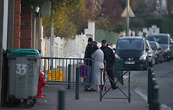 """A neighbour is comforted outside  The """"Ozar Hatorah"""" Jewish school  on March 20, 2012 in Toulouse, southwestern France. The bodies of three French-Israeli children and a Jewish teacher killed in a gun attack began their journey Tuesday from the school where they died to their burial in Israel..The bodies were due to be flown from Paris Charles de Gaulle airport later Tuesday for a funeral in Israel. Photo by i-Images"""