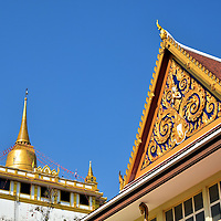 Golden Mount and Wat Saket in Bangkok, Thailand <br />