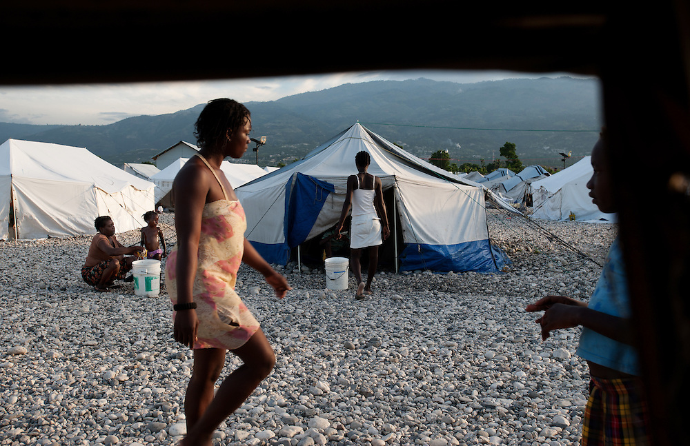 A tent settlement in Tabare Issa, Port au Prince.
