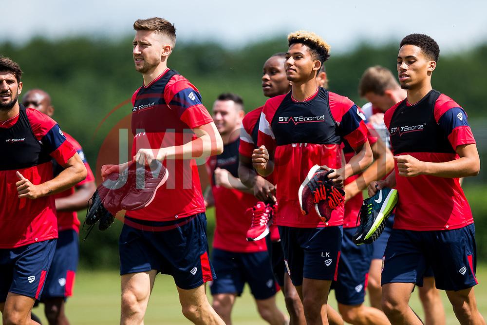 Lloyd Kelly and Zak Vyner in action as Bristol City return for pre-season training ahead of the 2017/18 Sky Bet Championship Season - Rogan/JMP - 30/06/2017 - Failand Training Ground - Bristol, England - Bristol City Training.