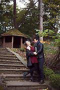 Engagement photoshoot at Edwards Gardens, Toronto